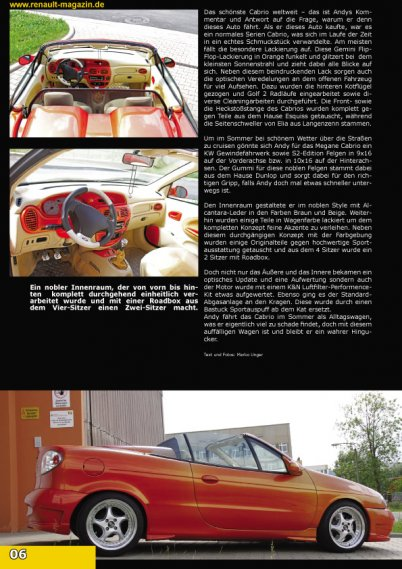 2207  569x569 2 Renault Magazine 02/2012tuning photo megane coupe megane cabrio flip flop orange cameleon color tuning megane