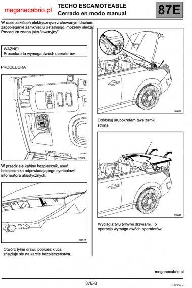 1613  569x569 2strona Awaryjne zamykanie dachu Megane CC IIręczne zamknięcie dachu cabrio reno problem z zamknięciem dachu instrukcja megane cabrio 2 ręczne otwarcie dachu jak awaryjnie zamknąć dach w megane cabrio ii