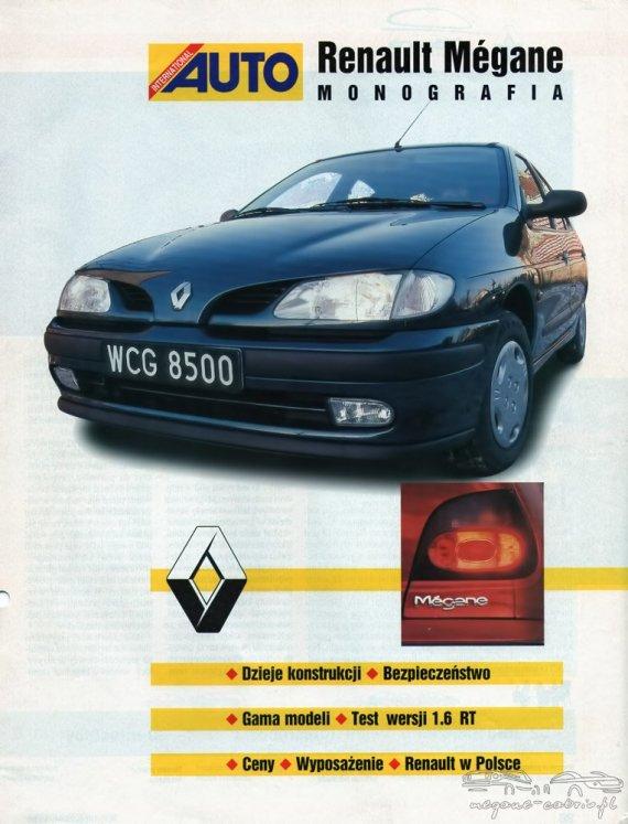 2733  570xfloat= 1 Renault Megane prospekt 1996r polskiwyposażenie test wersji 1 renault w polsce monografia renault megane gama modeli dzieje konstrukcji ceny bezpieczeństwo 6 rt